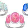 Triple Opal Sterling Silver Ring