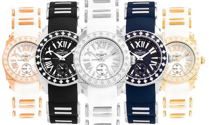 style de mode profiter du meilleur prix une performance supérieure Montre 24 Diamants Aquaswiss | Groupon Shopping