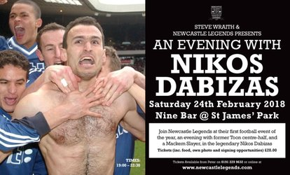 image for An Evening with Nikos Dabizas, 24 February, Nine Sports Bar & Lounge (Up to 32% Off)