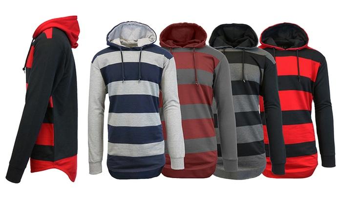 Men's Striped Pullover Hoodie
