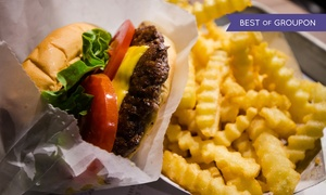 Rockin Diner: Burger, Hot Dog or Panini with Large Fries for One, Two or Four at Rockin Diner (Up to 46% Off)