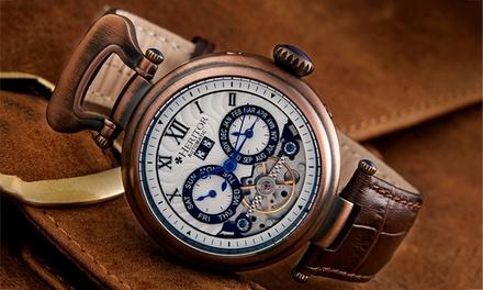 Orologio Automatico con 33 rubini, Heritor Ganzi disponibile in vari colori a 179,99 € (88% di sconto)