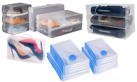 Storage Vacuum Bags and Shoe or Boot Boxes