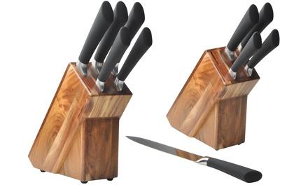 FivePiece Wooden Block Knife Set