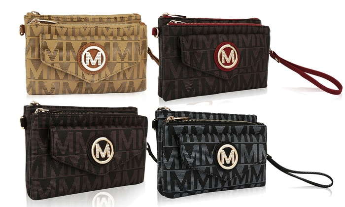 """MKF Collection Milan M Signature 2 in 1 """"Crossbody and Wristlet"""" by Mia K Farrow"""