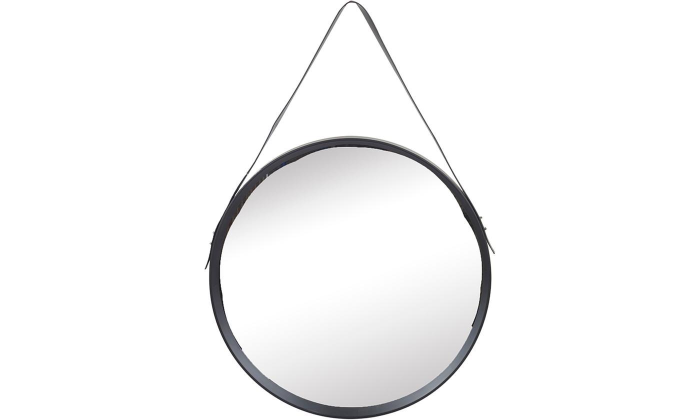 Round Inset Black Mirror