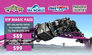 Village Roadshow Theme Parks: $89 for Unlimited Entry to Warner Bros. Movie World, Sea World, Wet'n'Wild Gold Coast + Paradise Country