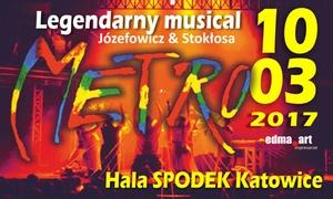 """Musical Metro: Od 49 zł: bilet na jubileuszowy musical """"Metro"""" w Hali Spodek w Katowicach (do -38%)"""