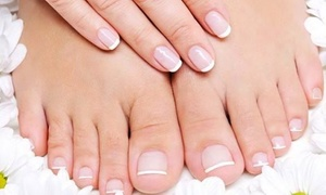Curls Style Beauty Salon: Classic Manicure and Pedicure, Facial Treatment or Both at Curls Style Beauty Salon (Up to 64% Off)