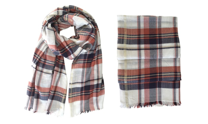 16619dc30e160 Up To 77% Off on Women's Tartan Blanket Scarf | Groupon Goods
