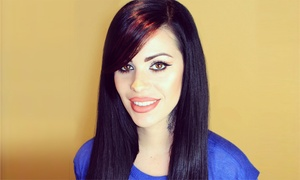 Jhona at Moxie Hair Studio: Haircut with Style and Option of Color from Jhona at Moxie Hair Studio (Up to 59%Off)