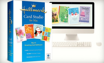 Hallmark Card Studio for Mac or PC from Hallmark Software (Half Off)