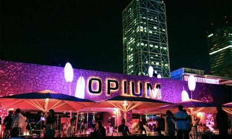 Opium Barcelona: 2 o 3 entradas con bebida durante el mes de octubre desde 24 € frente a la Barceloneta Oferta en Groupon