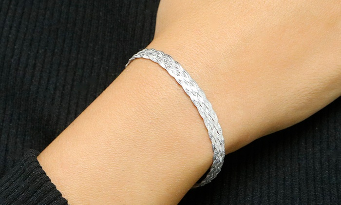 Italian Made Sterling Silver Braided