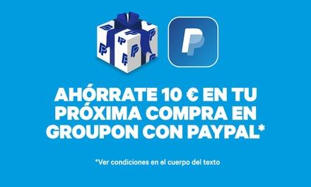 Descuento de 10 € en la próxima compra en Groupon con PayPal