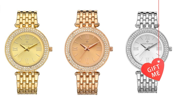 Dealco of NY Inc: Timothy Stone Women's Watch with Crystals from Swarovski®: One ($29.95) or Two ($55) (Don't Pay up to $402.62)