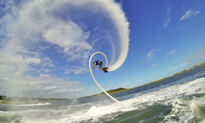 Carolina Flyboard - Rocky Point: Flyboard Jetpack Flight with Instruction for One, Two, or Four from Carolina Flyboard (Up to 48% Off)
