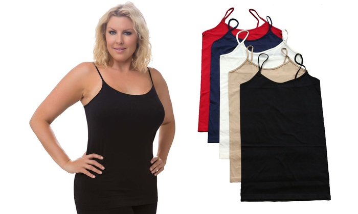 6553f442913 5 Pack Plus Size Slimming Camiso
