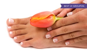 Peace Nails & Spa: Basic or Deluxe Mani-Pedi Package at Peace Nails & Spa (Up to 51% Off)