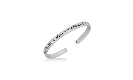 Girlfriends Are Sisters We Choose For Ourselves Cuff Bracelet