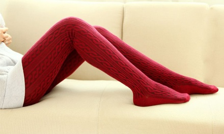 $16 for a Pair of Winter Knit Tights Don't Pay $39.95