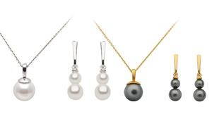 Collier et boucles d'oreilles ornés de cristaux Swarovski®