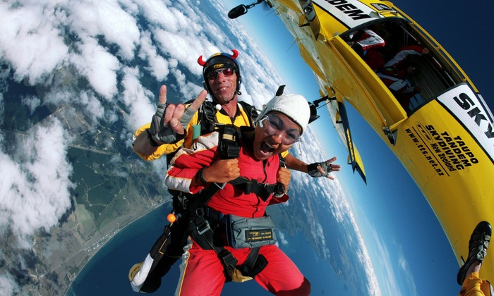 Taupo Tandem Skydiving in - Taupo | Groupon