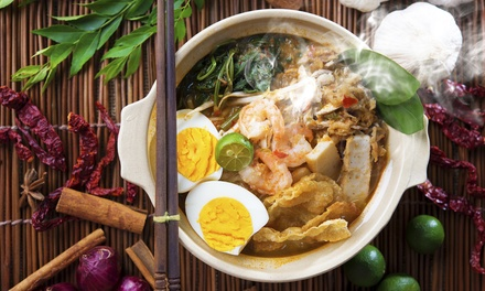 3Course Asian Fusion Banquet with Wine for Two $39 or Four People $75 at Bababoi Kitchen and Bar Up to $138 Value