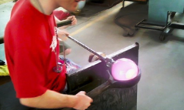 Through the Fire Studios Inc - Columbia: 90-Minute Glass-Blowing Class for One, Two, or Family of Four at Through the Fire Studios Inc. (Up to 60% Off)
