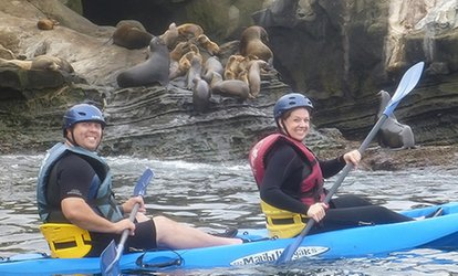La Jolla Sea Caves Kayak Tour for Two at Hike Bike Kayak Adventures (51% Off)