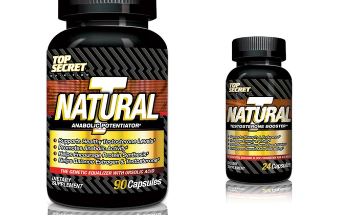 Top Secret Nutrition Natural T with Free Trial-Size Natural T: Top Secret Nutrition Natural T Testosterone Supplement (45 Servings) with Free Trial-Size Natural T. Free Shipping.