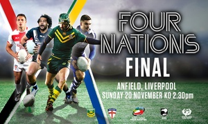 The Rugby Football League: The 2016 Four Nations Final 2016 on 20 November at Anfield Stadium (Up to 20% Off*)