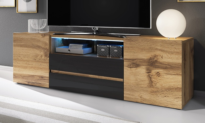 Bros TV Cabinet with LED Lights