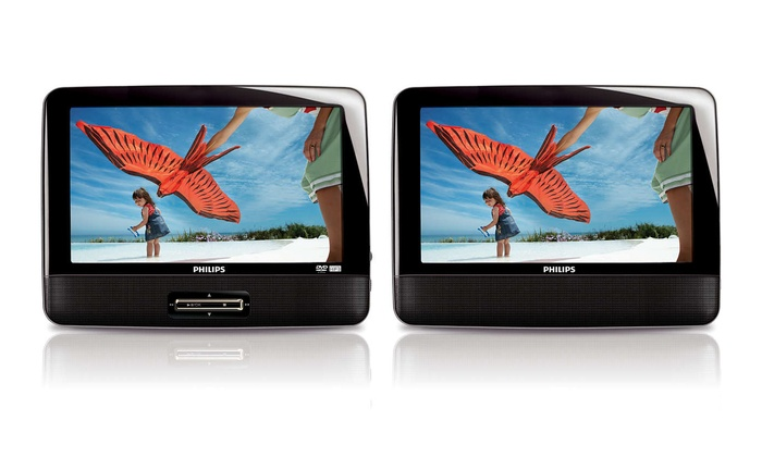 Philips 9 Dual-Screen Car DVD Players (Refurbished)