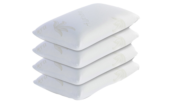 Cuscini Memory Groupon.4 Cuscini In Fiocco Di Memory Foam Groupon