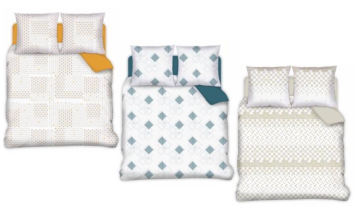 Parure de lit design scandinave   Groupon