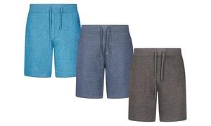 Short en coton taille élastiquée pour homme