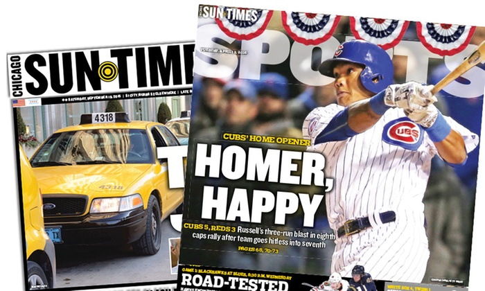 "Chicago Sun-Times - Chicago: One Year of ""Chicago Sun-Times"" Sunday Delivery (Up to 89% Off)"