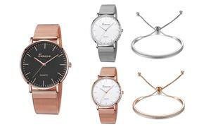 Coffret montre et bracelet orné de cristaux Swarovski®