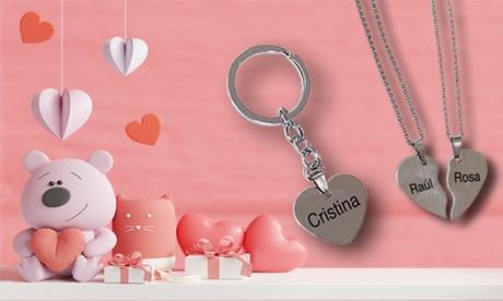 Llavero de acero personalizable con forma de corazón con Imagina Grupo (con 37% de descuento)