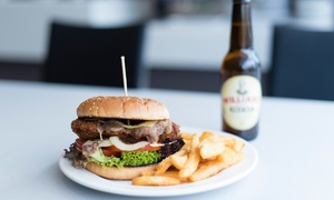 Restaurant 1903 Perth: Gourmet Burger with Chips & Beer for 1 ($13), 2 ($25) or 4 People ($49) at Restaurant 1903 Perth (Up to $107.60 Value)