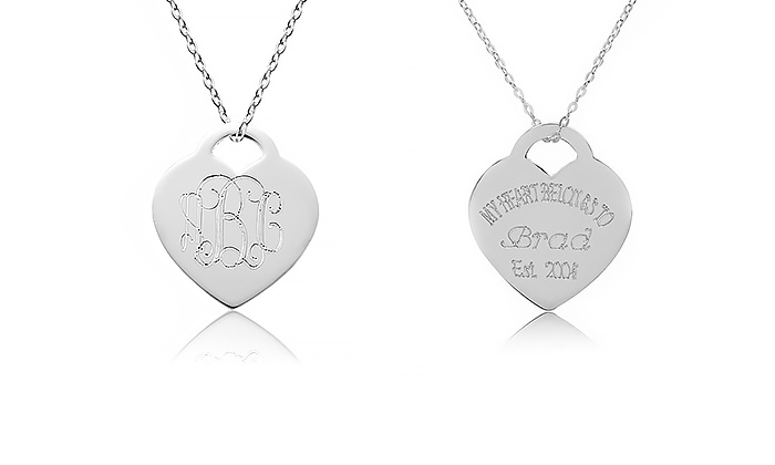 Namejewelryspot.com: Personalized and Monogrammed Heart Pendants from NameJewelrySpot (Up to 85% Off)