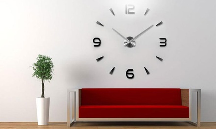 One, Two, or Three DIY Mirror Wall Clocks from AED 89