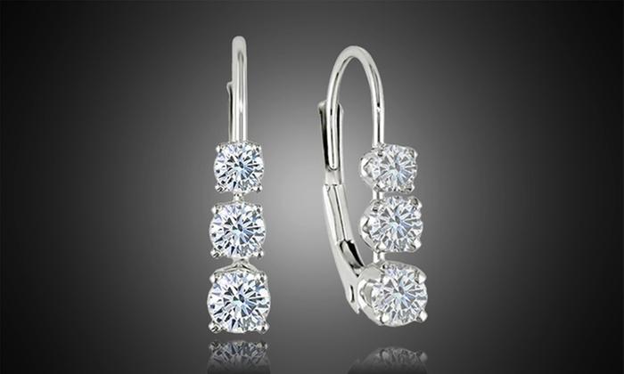 cabae6756 Swarovski Elements Crystal Leverback Earrings - Best All Earring ...