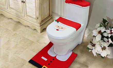 3-Pc Christmas Toilet Cover Set