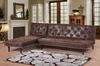 Groupon Goods Global GmbH: Charles Victorian-Style Faux Leather Sofa Bed, Chaise Lounge or Both With Free Delivery