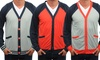 Men's Oxymoron Button Cardigans: Men's Oxymoron Button Raglan Cardigans