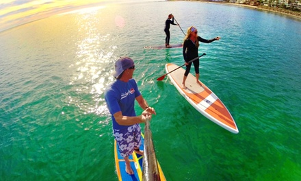 Standup Paddleboarding Lesson for 1 or 2 with Optional Photos and Videos at Paddle Surf Malibu (Up to 56% Off)