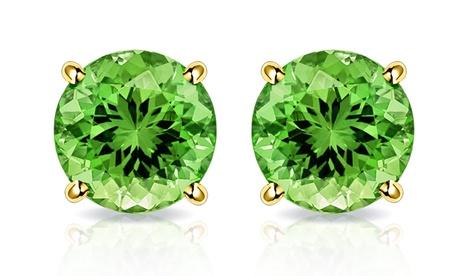 2.00 CTW Peridot Stud Earrings in 10K Gold by MUIBLU Gems