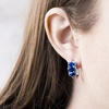 Nina & Grace 5.22 CTTW Blue Sapphire and Diamond Accent Earrings